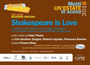 "2016 | giovedì 4 agosto | ""Shakespeare is Love"""